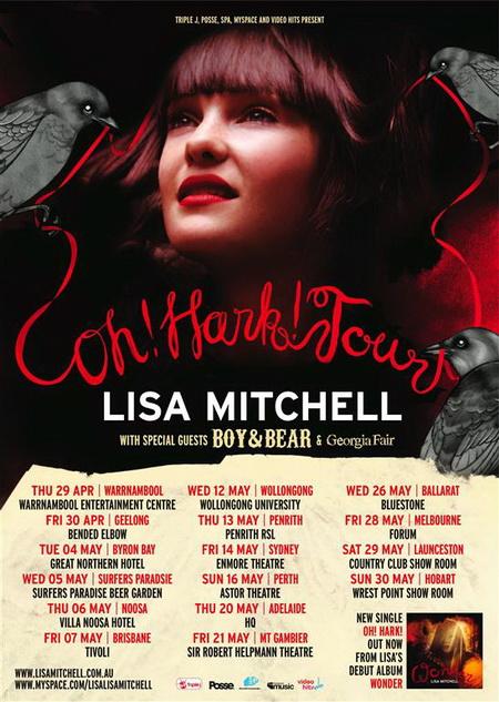 Lisa Mitchell Oh Hark Tour