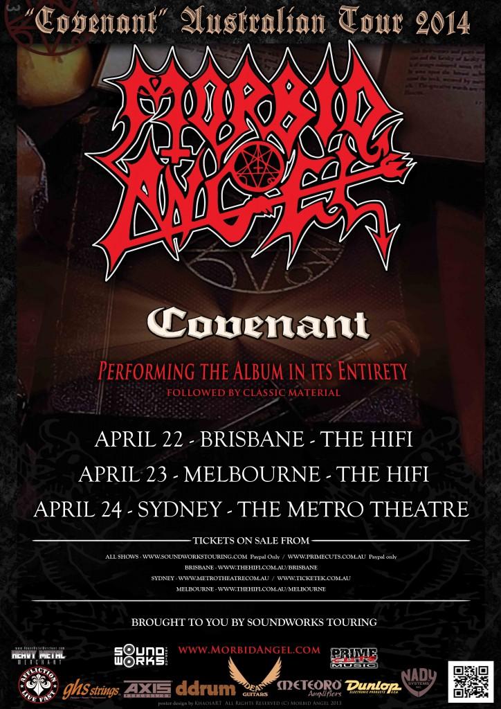 MORBID ANGEL AUSTRALIA 2014