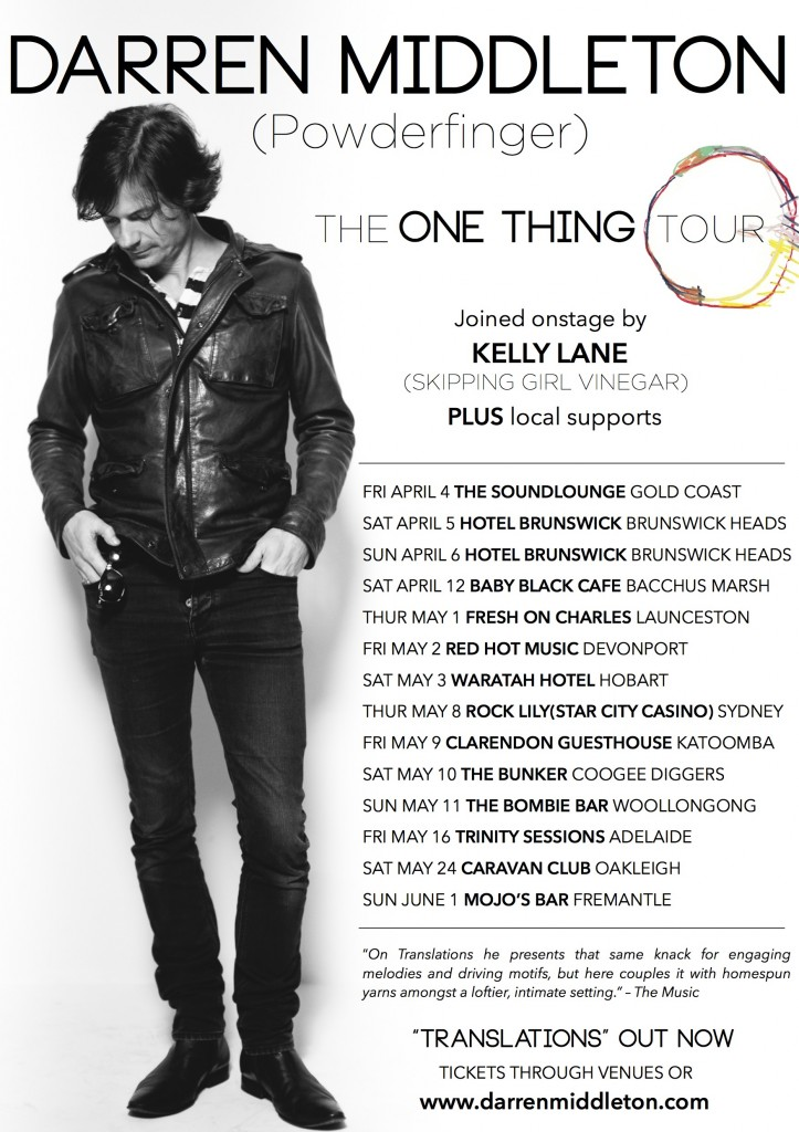 one thing tour poster
