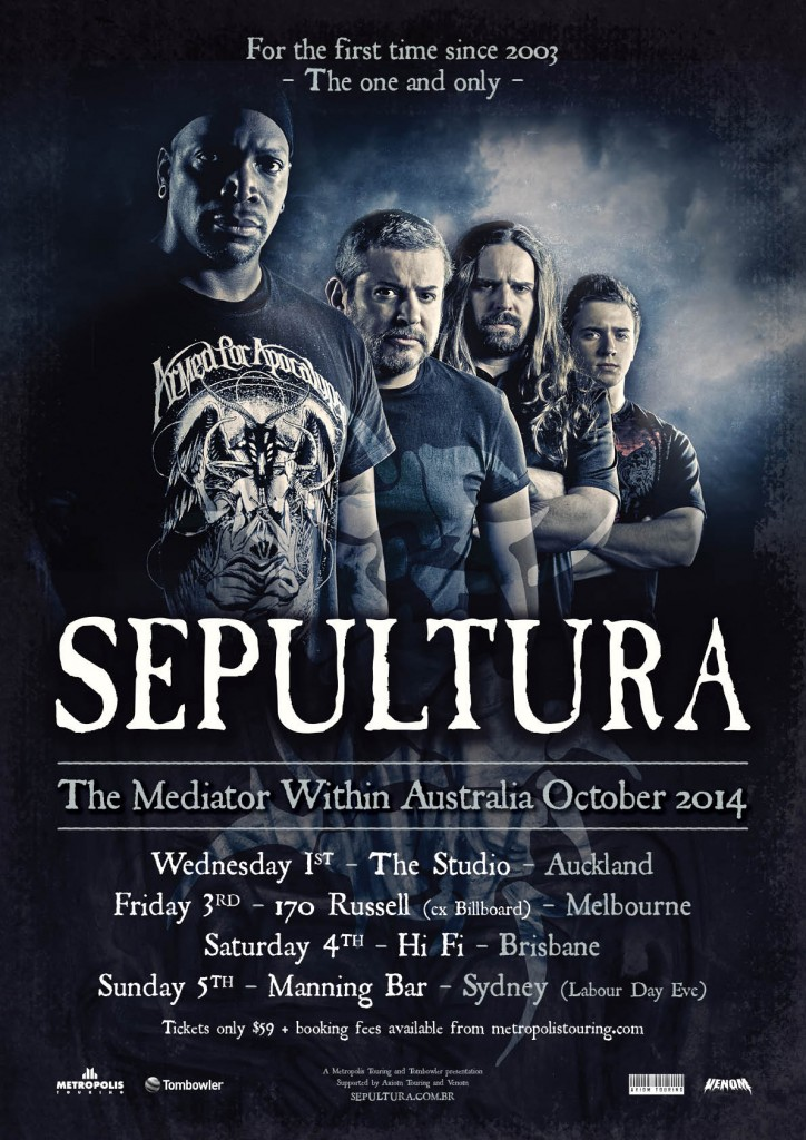 SEPULTURA TOUR ART
