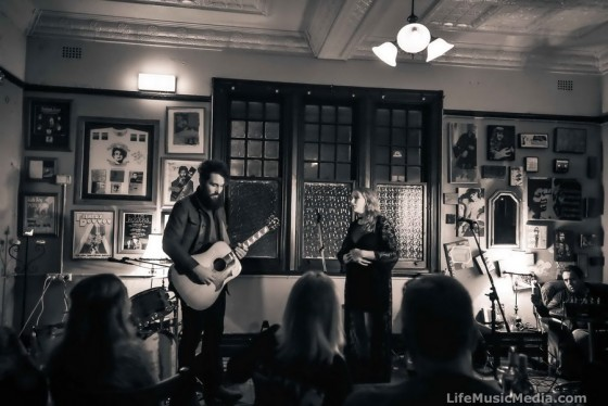 William Crighton and Claire Anne Taylor at The Junkyard, Maitland - 21 July 2016 Photographer: David Jackson