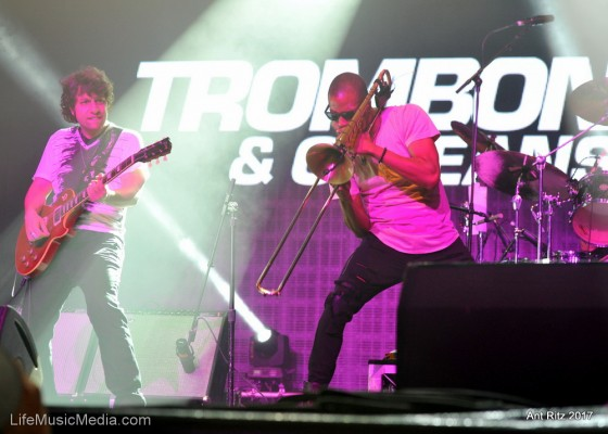 Trombone Shorty at Bluesfest Byron Bay 2017 Photographer: Ant Ritz