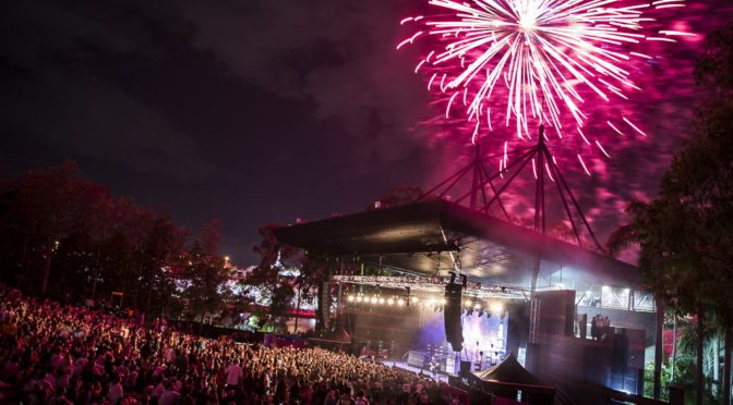 Photos : Brisbane Festival Closing Party at Brisbane Riverstage – 29 September 2018