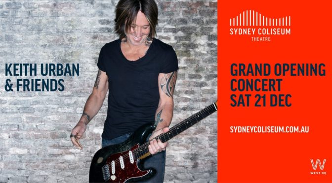 Live Review : Keith Urban at Sydney Coliseum Theatre, West HQ – 21 December 2019